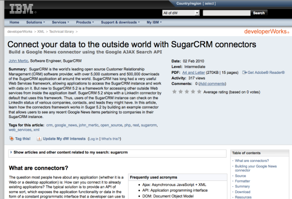 Connect your data to the outside world with SugarCRM connectors