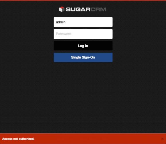 Failed login on SugarCRM Mobile