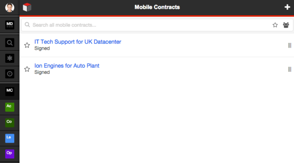 Example of custom module pulling Contract records into SugarCRM Mobile